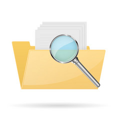 Browse folder icon vector