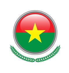 burkina flag button burkina flag icon of burkina vector image
