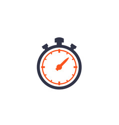 chronometer stopwatch icon isolated vector image