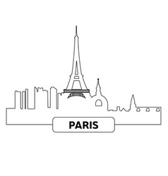 cityscape of paris vector image