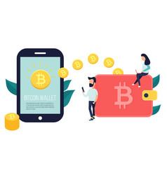 concept design of cryptocurrency technology vector image