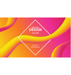 creative cover design vector image