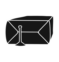 design bag and drug symbol web element vector image