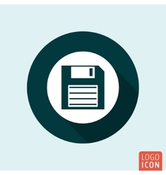 Diskette icon isolated vector image
