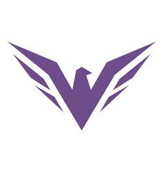 eagle abstract logo design icon vector image