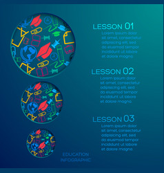 education abstract infographics vector image