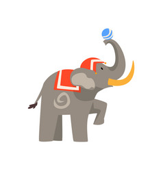 Elephant animal performing in circus show with vector