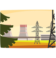 Energy generation power station powerful nuclear vector
