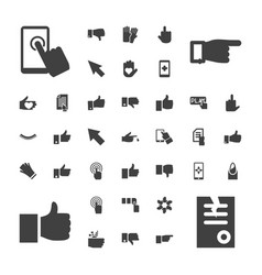 finger icons vector image
