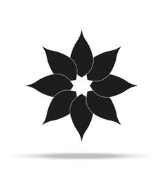 flower icon in trendy flat style isolated on grey vector image