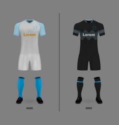 football kit shirt template vector image