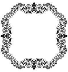 frame with floral decoration vector image