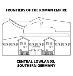 Frontiers of the roman empire central lowlands vector