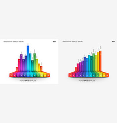 Full editable infographic flat chart vector