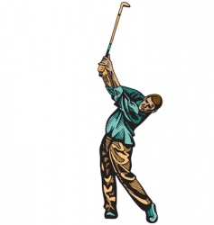 golf swing vector image