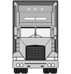 Gray isolated modern truck vector