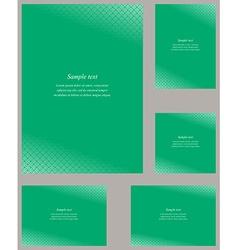 Green page corner design template set vector