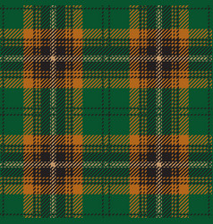 Green tartan plaid seamless pattern vector