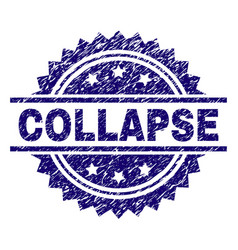 Grunge textured collapse stamp seal vector