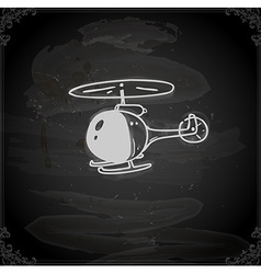 Hand drawn helicopter vector