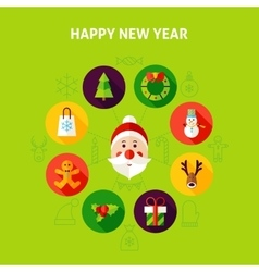 Happy New Year Infographics vector image