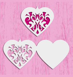 Heart card for invitation or greeting vector