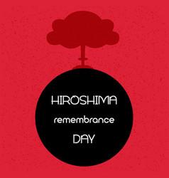 hiroshima remembrance day vector image