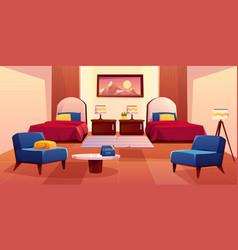 hotel bedroom empty apartment interior design vector image
