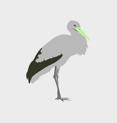 In flat style of stork vector