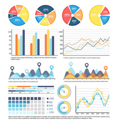 Infographics report on data received in research vector