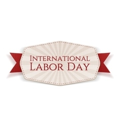 International Labor Day white striped Banner vector image