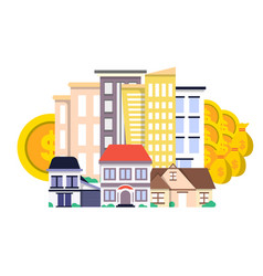 investment in real estate concept in flat design vector image