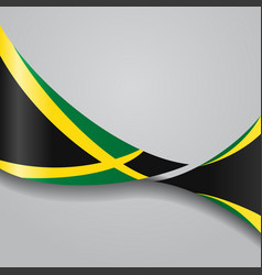 jamaican wavy flag vector image