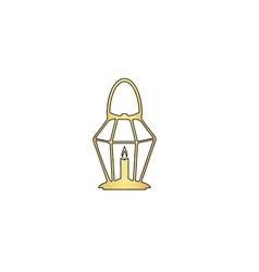 Lantern computer symbol vector image