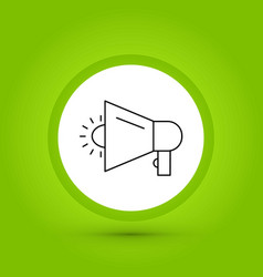 Marketing icon in creative design with elements vector