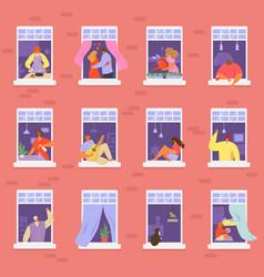 Neighbors people in window vector