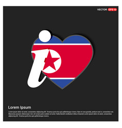 north korea flag design vector image