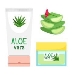 organic aloe vera cosmetics vector image