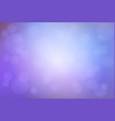 Pale purple blue blurred background with bokeh vector