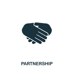 partnership icon premium style design from vector image