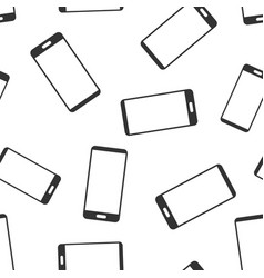 Phone device sign icon seamless pattern vector