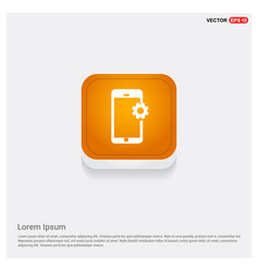 phone with setting icon vector image