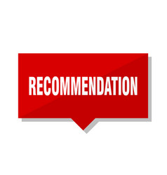 Recommendation red tag vector