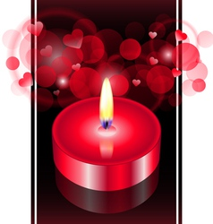 red candle vector image