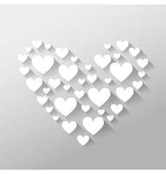 Romantic abstract Valentines Day with hearts with vector image