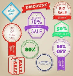 Sale discont label vector image