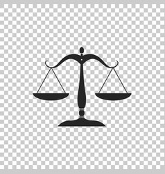 scales of justice icon on transparent background vector image