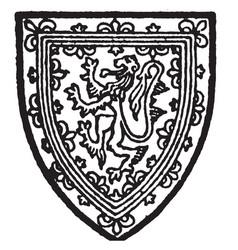 scotland bore gold a lion within a double vector image
