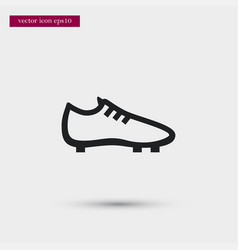 soccer shoe icon simple football element boot vector image