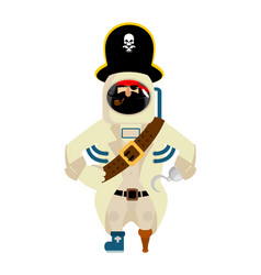 Space pirate filibuster spaceman buccaneer vector
